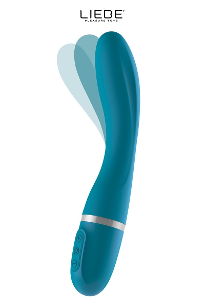 Vibromasseur flexible Bend It - bleu